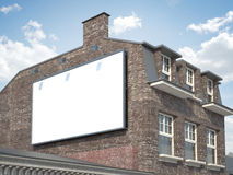Blank billboard hanging on the classic building Stock Photo