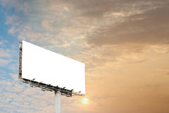 Blank billboard Royalty Free Stock Photography