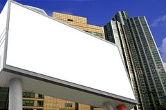 Blank Billboard I. Blank Billboard ready for commercial use with building background stock photos