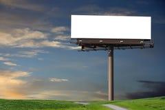 Blank Billboard In A Field Stock Image
