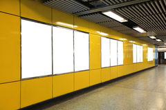 Free Blank Billboard In Metro Subway Station Royalty Free Stock Photos - 41527368