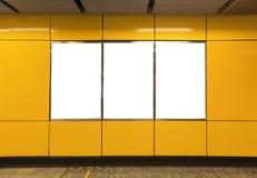 Free Blank Billboard In Metro Subway Station Stock Photography - 41527372
