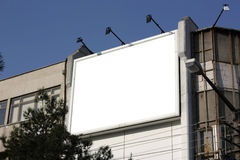 Blank Billboard - Including clipping path around b Royalty Free Stock Photos