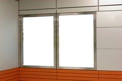 Blank billboard indoor Stock Photo