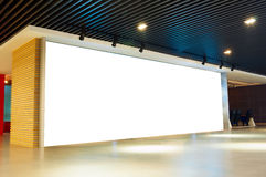 Blank billboard indoor Stock Photography