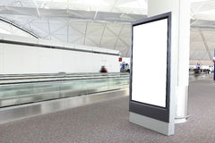 Blank Billboard in international airport Royalty Free Stock Photo
