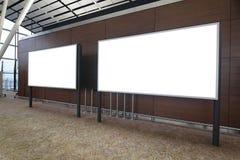 Blank Billboard in international airport Stock Photos