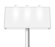 Blank billboard isolated Royalty Free Stock Images