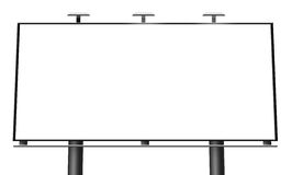 Blank billboard isolated. On white background Royalty Free Stock Photos