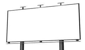 Blank billboard isolated Royalty Free Stock Photo