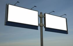 Blank billboard, just add your text. Blank double billboard, just add your text Royalty Free Stock Images