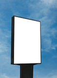 Blank billboard, just add your text. Blank billboard over blue sky Royalty Free Stock Image
