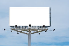 Blank billboard, just add your text Stock Image