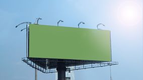 Blank billboard large size for outdoor advertising. Blank billboard large size for outdoor or out of home advertising with blue sky royalty free stock image