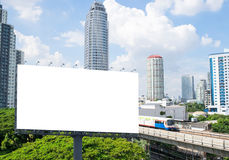 Blank billboard Royalty Free Stock Photos