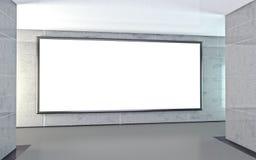 Blank billboard or lcd screen Royalty Free Stock Photo