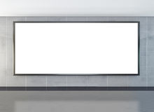 Blank billboard or lcd screen Royalty Free Stock Images