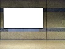 Blank billboard. Located in subway for advertising mockup concept Royalty Free Stock Photos