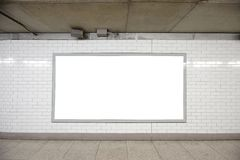 Blank billboard stock image