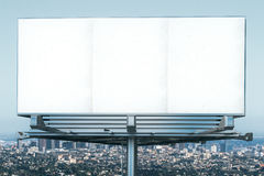 Blank billboard at megapolis city view backgound Stock Photo