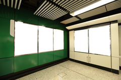 Blank Billboard in metro subway station Royalty Free Stock Image