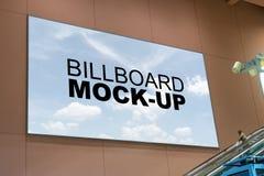 Blank billboard mock up at international airport royalty free stock photo