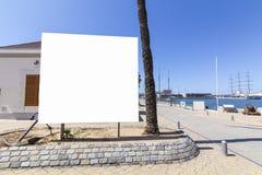 Blank billboard mock up stock photography