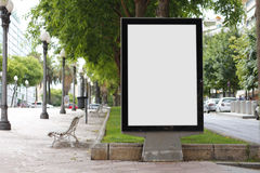 Blank billboard mock up stock photography