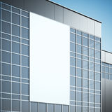 Blank billboard on the modern building. 3d rendering Stock Image