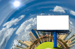 Blank billboard  in modern city Stock Photos