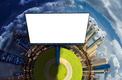 Blank billboard in modern city Royalty Free Stock Images