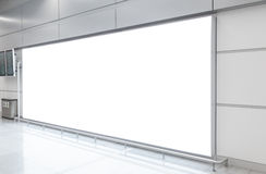 Blank billboard in modern hall Stock Photography