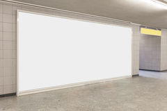 Blank billboard in modern interior Stock Image