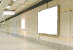 Blank billboard in modern interior hall Stock Photos