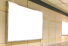 Blank billboard in modern interior hall Stock Images