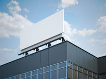 Blank billboard on the modern office building Stock Image