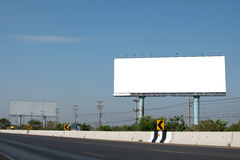 Blank billboard near the road Royalty Free Stock Photography