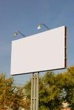 Blank billboard near trees Stock Photo
