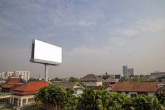 Blank billboard for new advertisement Stock Photos
