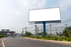 Blank billboard for new advertisement Royalty Free Stock Photos
