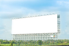 Blank billboard for new advertisement Royalty Free Stock Image