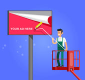 Blank billboard for new advertisement. vector Stock Photo