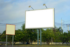 Blank billboard for new Advertising Stock Image