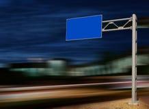Blank Billboard at Night. Blank Billboard on City Street at Night royalty free stock image