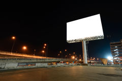 Blank billboard at night for advertisement Royalty Free Stock Image
