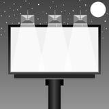 Blank billboard at night Royalty Free Stock Images