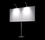 Blank billboard night view mock-up Royalty Free Stock Photography