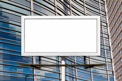 Blank Billboard and Office Buildings Royalty Free Stock Photo