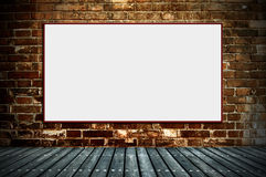 Blank billboard on the old walls Royalty Free Stock Photo