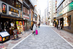walking street  in Tokyo, Japan. Stock Photography